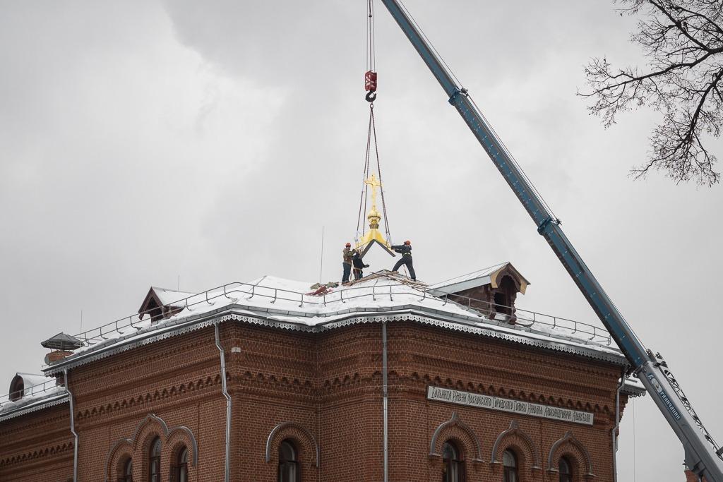 Реставрация административного корпуса почти завершена!